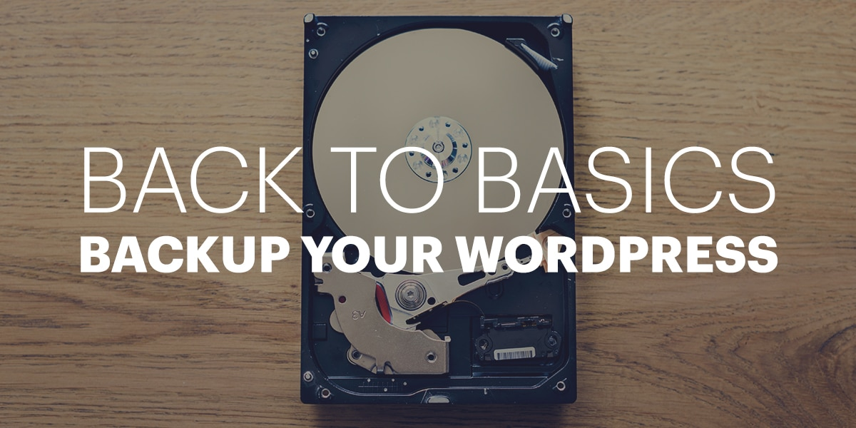 Back to Basics: Backup your WordPress