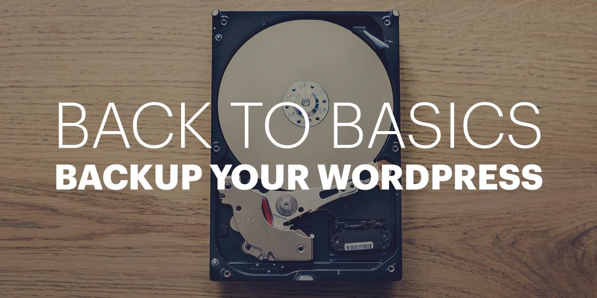 Backup your WordPress
