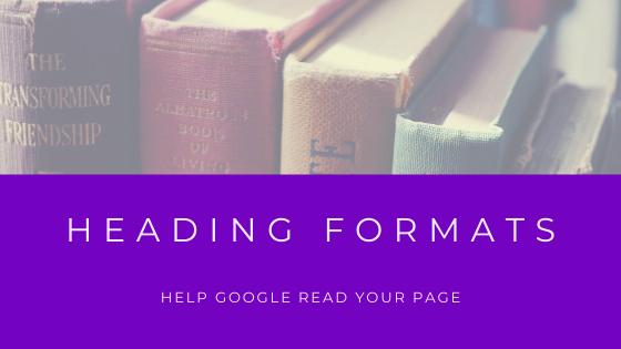 heading formats